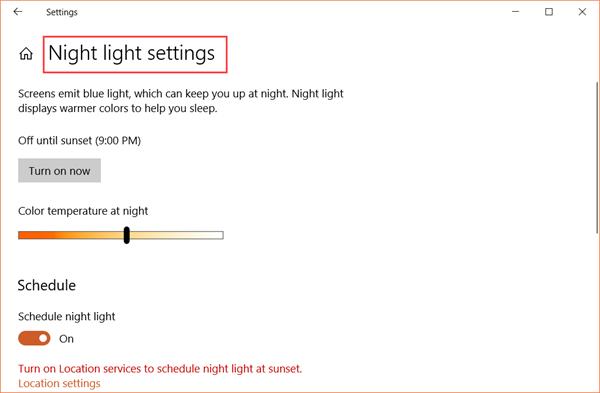 How to Use Blue Light Filter/Night Light on Windows 10