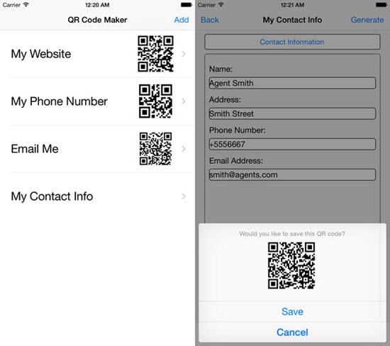 QR code maker is one of the best Barcode and QR-Code Scanner Apps for iPhone in 2019.