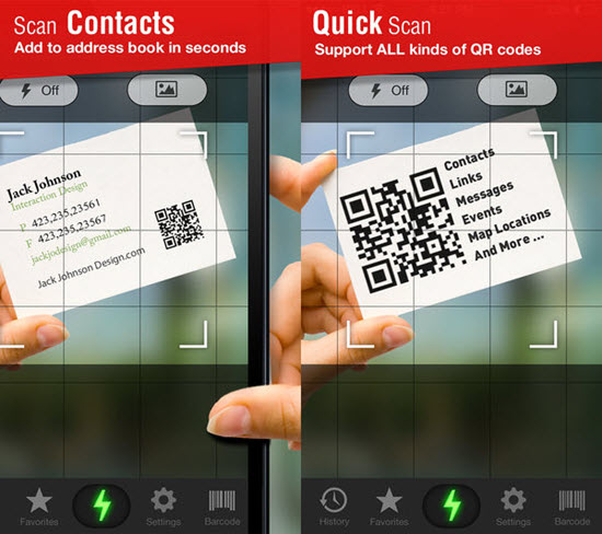 Quick Scan - QR Code Reader is one of the best Barcode and QR-Code Scanner Apps for iPhone in 2019.