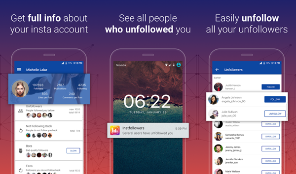 Unfollowers and Followers Analytics for Instagram is one of the top 7 Instagram Follower & Unfollowers Tracing Apps for Android.