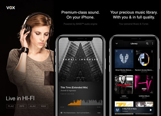Vox Music Player is one of the best Offline Music Apps for iPhone.