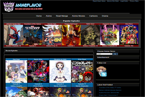 Animeflavor is one of the best websites to Watch Cartoons and Animes Online for Free.