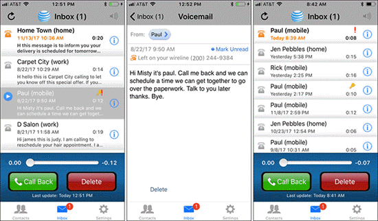AT&T Voicemail Viewer is one of the best Apps to Send & Receive Voicemails on iPhone.