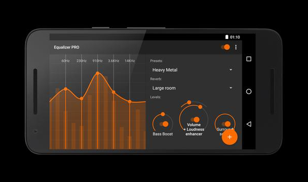 Equalizer – Bass Boost is a free Equalizer and Bass Booster Apps for Android 2019.