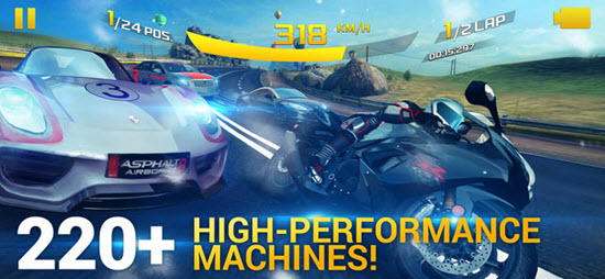 Asphalt 8 is one of best iOS Multiplayer Games for iPhone & iPad.