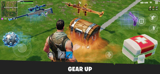Fortnite is one of best iOS Multiplayer Games for iPhone & iPad.
