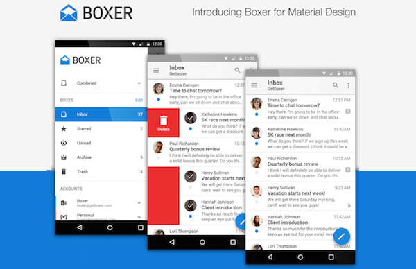 Boxer is one of the best free Android Email Apps.