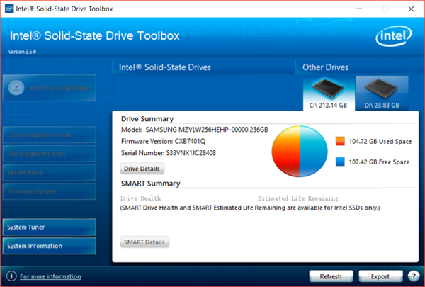 How to Check SSD Health Using Intel SSD Toolbox
