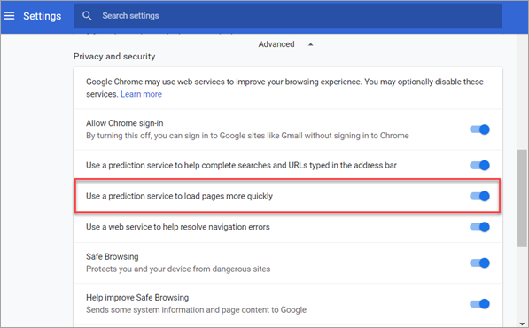 Fix 100 Disk Usage by Disabling Prediction Service Chrome