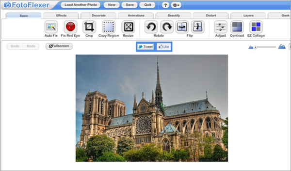 FotoFlexer is one of the 5 Best Free Photoshop Alternatives Online.