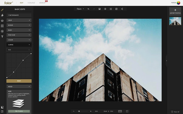 Fotor is one of the best alternatives to Polarr Photo Editor 2019.