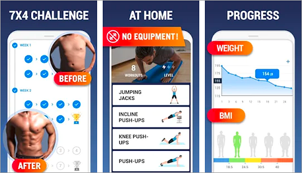 Home Workout is one of the best Free Android Fitness Apps.