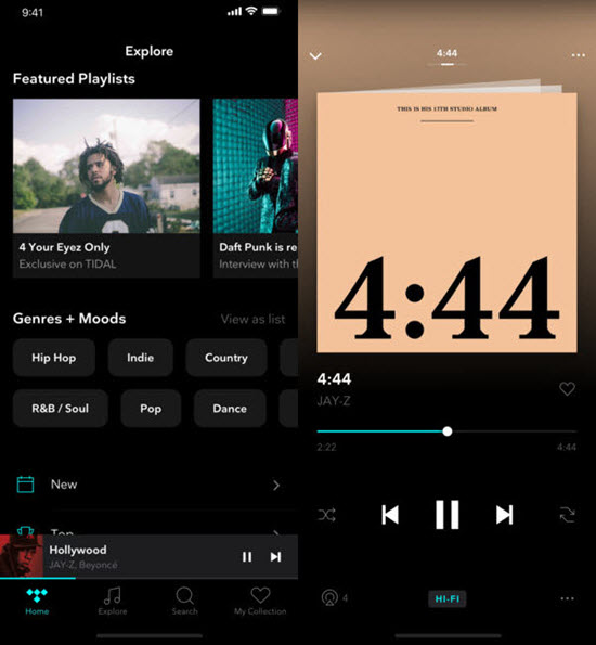 Tidal is best MP3 Music Downloader Apps for iPhone.