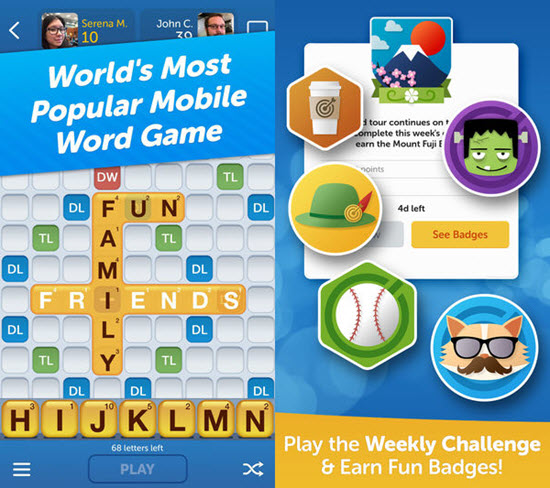 Words with Friends! is one of best iOS Multiplayer Games for iPhone & iPad.