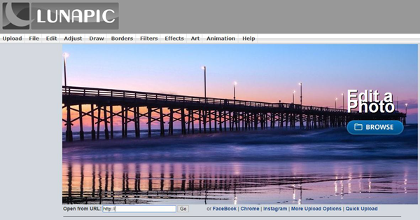 Lunapic is one of the 5 Best Free Photoshop Alternatives Online.