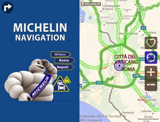 Michelin Navigation is one of best 9 Free Traffic Apps for Android Phones 2019.