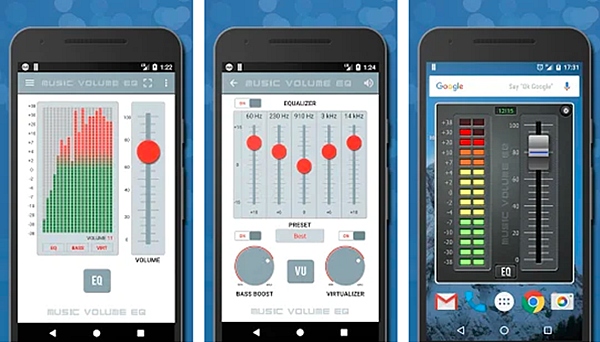 Music Volume EQ is a free Equalizer and Bass Booster Apps for Android 2019.