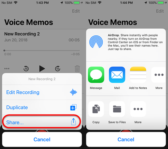 How to find voice memo on iphone 8