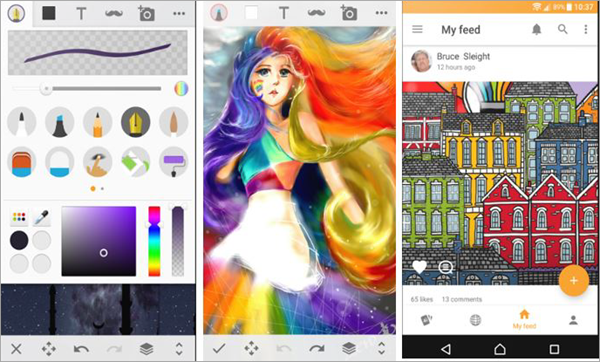 Sketch - Draw & Paint is one of the best free Drawings Apps For Creative Android Users.