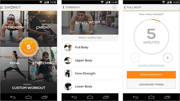 Sworkit Workouts & Fitness Plans is one of the best Free Android Fitness Apps.
