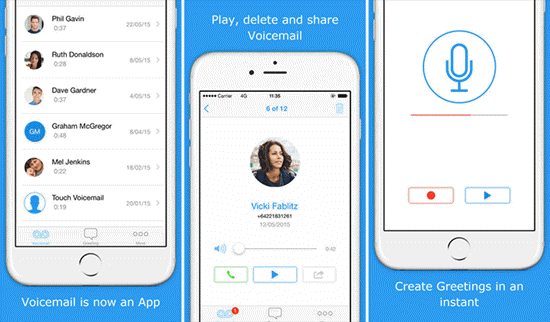 Touch Voicemail is one of the best Apps to Send & Receive Voicemails on iPhone.