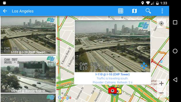 USA Traffic Cameras is one of best 9 Free Traffic Apps for Android Phones 2019.