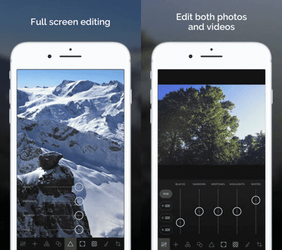 Ultralight is one of the best Apps to Brighten & Enhance Your iPhone Videos.