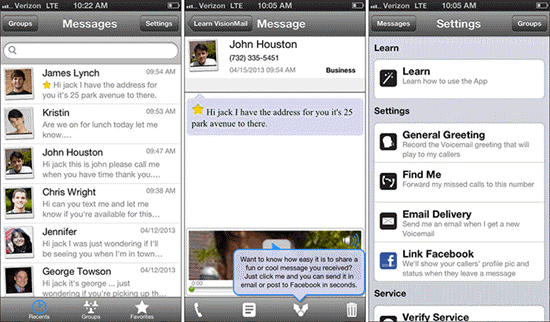 VisionMail Visual Voicemail is one of the best Apps to Send & Receive Voicemails on iPhone.
