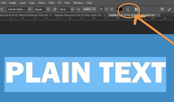 The Correct Way to Create Curved Text in Photoshop