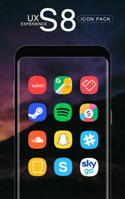 UX S8 is the best 15 Nova Launcher Themes.