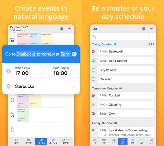 Calendars 5 is best free Calendar Apps for iPhone.