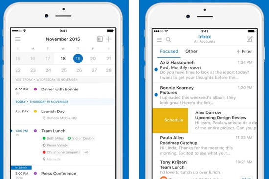 Outlook is best free Calendar Apps for iPhone.