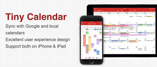Tiny Calendar is best free Calendar Apps for iPhone.