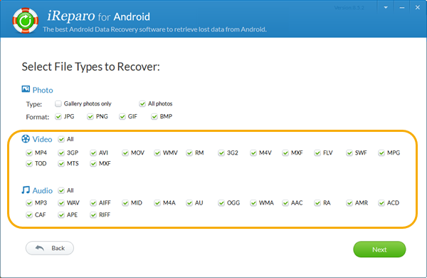 Steps to Retrieve Lost Videos and Audios on Android