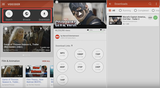 Videoder is one of the best YouTube Music Download Apps for Android.