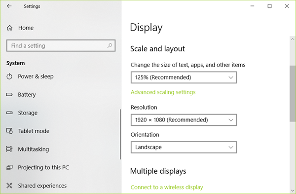 Change Display Settings of the Dual Monitor