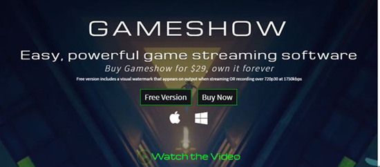 Gameshow is best Live Streaming Software for PC.