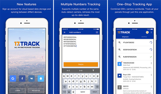 17TRACK is best Package & Shipment Tracking Apps for iPhone.