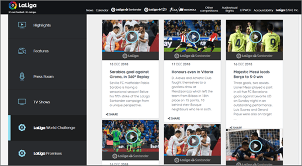 La Liga TV is one of best free Sports Streaming Apps for Android.