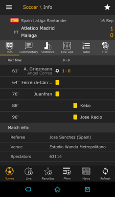 LiveScore is one of best free Sports Streaming Apps for Android.