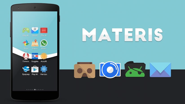 Materis is the best 15 Nova Launcher Themes.