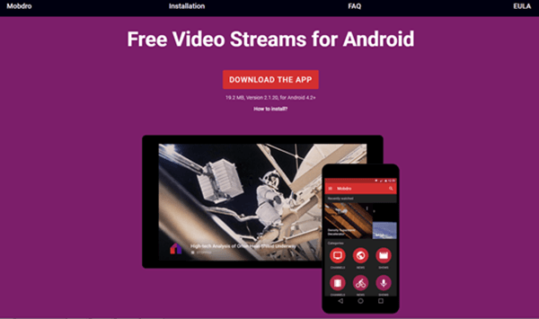 Mobdro is one of best free Sports Streaming Apps for Android.