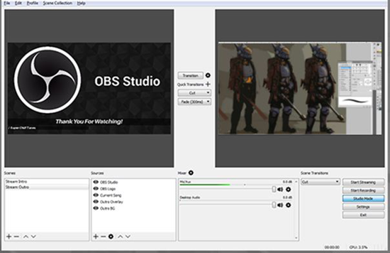 OBS is best Live Streaming Software for PC.