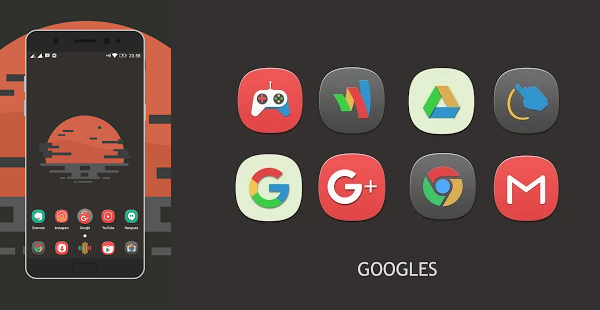 Pangpang Icon Pack is the best 15 Nova Launcher Themes.