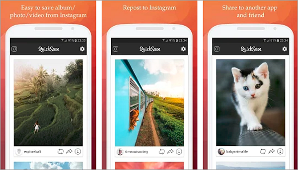 QuickSave is best Apps to Download Instagram Videos and Photos on Android.