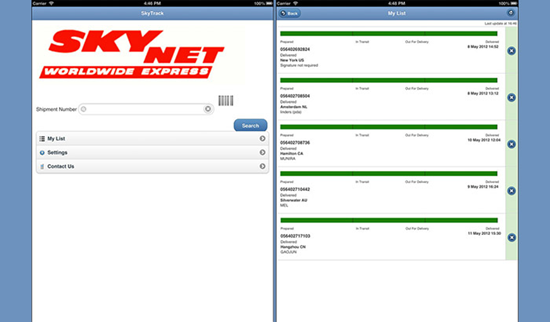 SkyNet Mobile Tracking is best Package & Shipment Tracking Apps for iPhone.