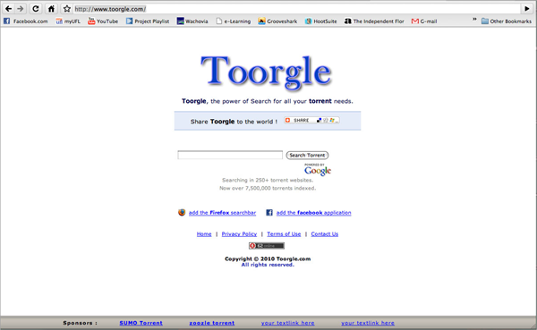Toorgle is one of the best Torrent Search Engine Sites 2019.