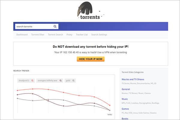 Torrents.me is one of the best Torrent Search Engine Sites 2019.