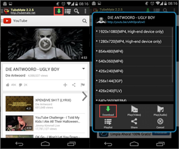 TubeMate is one of the best YouTube Music Download Apps for Android.