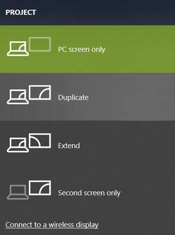 Choose Display Mode on Windows 10